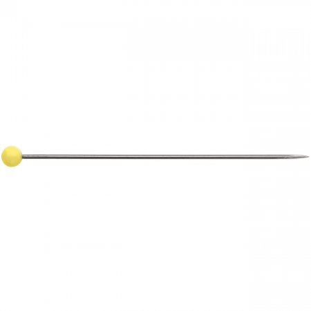 Glass Head Push Pins, 0,6mm x 43mm, Yellow, 20g (029153)