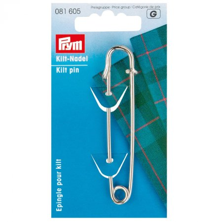Kilt Safety Pin, 76mm, Silver Colour (081605)