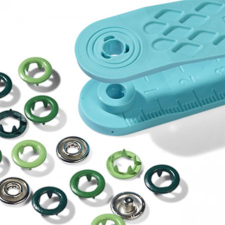 Snap Fasteners Jersey, Prym Love, 8mm,Green (390703)
