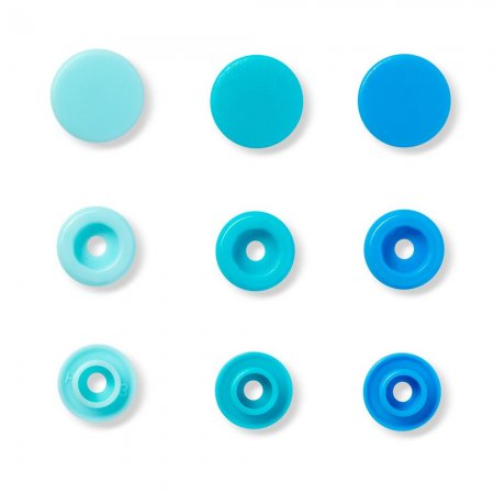 Snap Fasteners Color Snaps, Blue, Prym Love, Plastic, 12,4mm, Pack of 30 (393000)