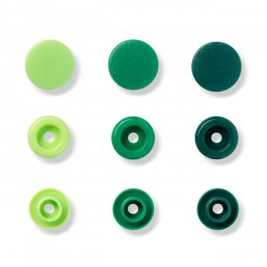 Color Snaps Snap Fasteners Green, Prym Love, Plastic...