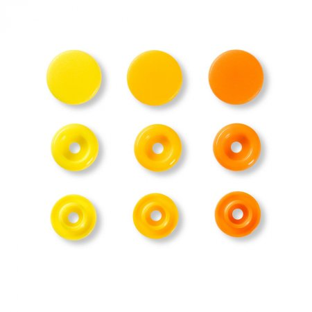 Snap Fasteners Color Snaps Yellow, Prym Love, Plastic 12,4mm, Pack of 30 (393004)