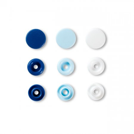Snap Fasteners Color Snaps Light Blue, Prym Love, Plastic 12,4mm, Pack of 30 (393009)