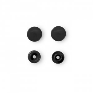 Color Snaps Snap Fasteners Black,Plastic 12,4mm, Pack of...