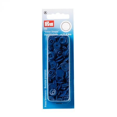 Snap Fasteners Color Snaps Blue, Prym Love, Plastic 12,4mm, Pack of 30 (393158)