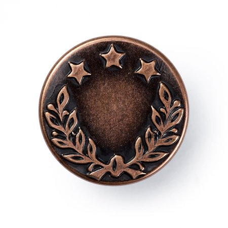 No Sew Jeans Buttons, Laurel Wreath, 17mm, Old Copper (622241)