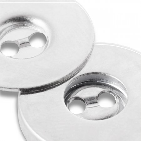 Magnetic Sew On Buttons, 19mm, Silver Colour (416470)