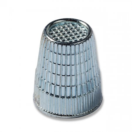 Thimble with Anti-slip Edge, 16mm, Silver Coloed, (431862)