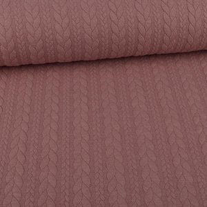 Knit Jacquard Knitted Fabric with Braid Pattern Dusky Rose