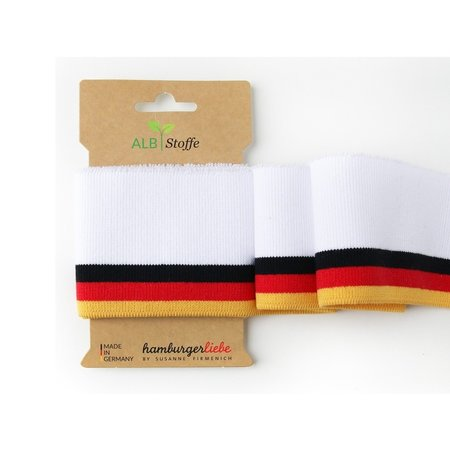 Cuff Me COLLEGE Cuffs Alb Fabric World Cup Edition Black - Red - Gold on White