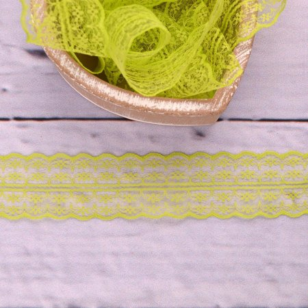 Fine Lace Floret Lime 43mm