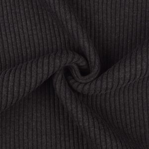 Cuffs Ribbed Uni Dark Grey Melange