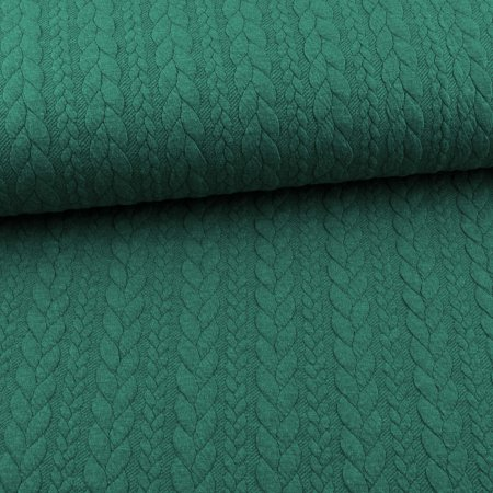 Knit Jaquard Knitted Fabric with Braid Pattern green