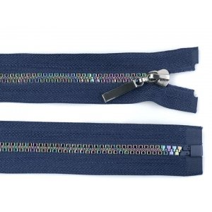 Rainbow Zipper Blue 80 cm length