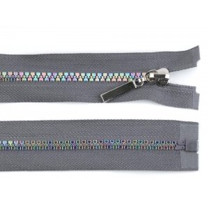 Rainbow Zipper Grey 50 cm length