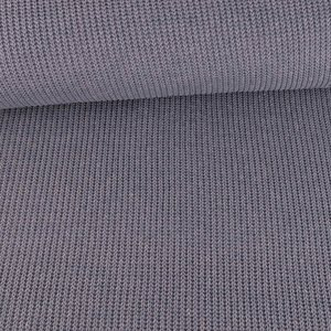 Big Knit Knitting Fabric Grey Blue