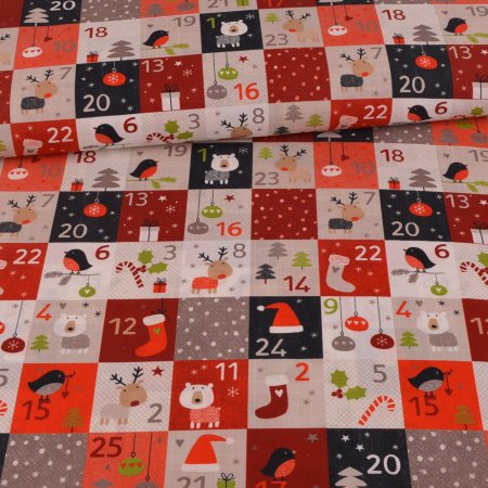 Cotton Woven Fabric Cute Advent Calendar