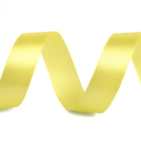 Satin Ribbon 20mm Pastel Yellow