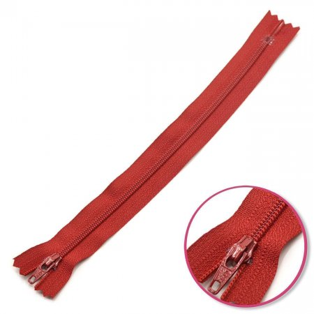 Zipper Dark Red 30cm Non Seperable YKK (0561179-520)