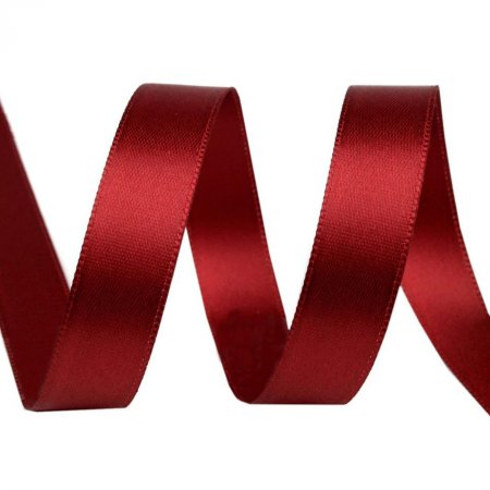 Satin Ribbon 15mm Dark Red