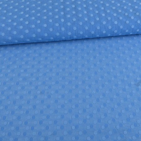 Tulle Fabric Dots Blue