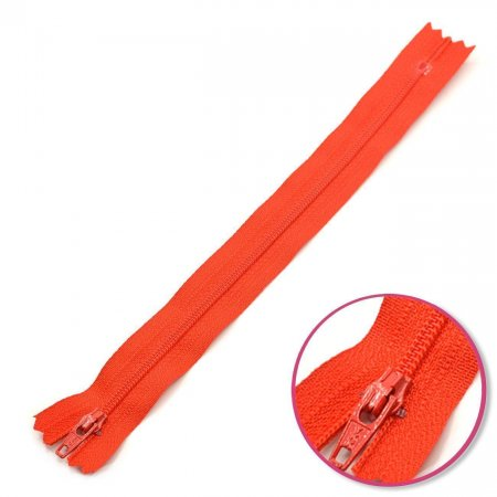 Zipper Light Red 22cm Non Seperable YKK (0561179-823)