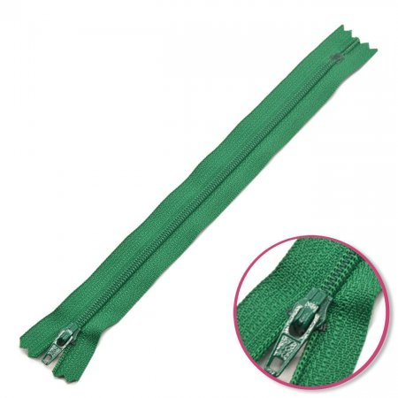 Zipper Green 20cm Non Seperable YKK (0561179-878)