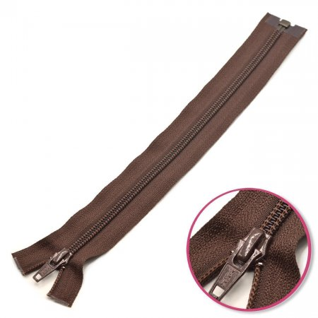 Zipper Dark Brown 25cm Seperable YKK (0004706-570)