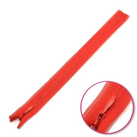 Concealed Zipper red not divisible YKK (0004715-519)