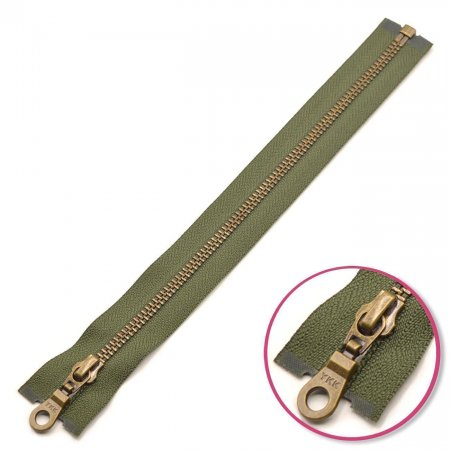 Zipper Olive Green Seperable Antique-Gold YKK (0503311-567)