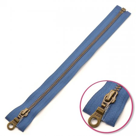 Zipper Denim-Blue 65cm Seperable Antique-Gold YKK (0503311-839)