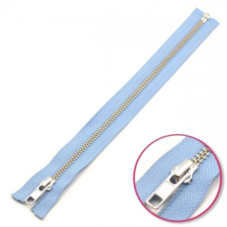 Zipper Pastel-Blue Seperable Silver YKK (0573985-546)
