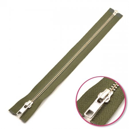 Zipper Olive Green 75cm Seperable Silver YKK (0573985-567)