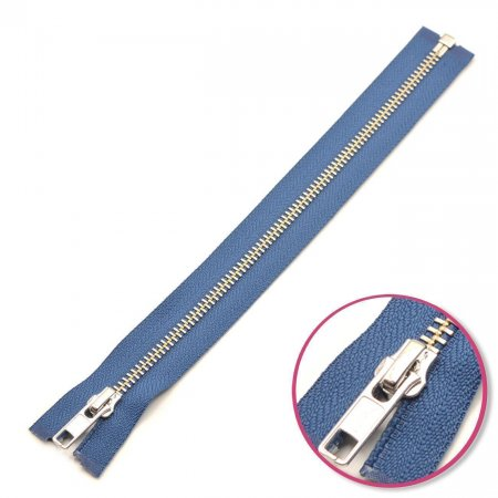 Zipper Denim-Blue Seperable Silver YKK (0573985-839)