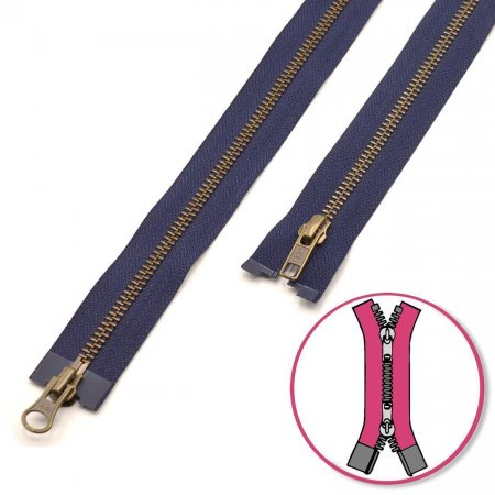 Zipper Navy 65cm two-ways Seperable YKK (0593552-058)