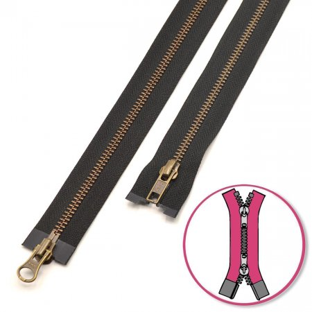 Zipper Black 60cm two-ways Seperable YKK (0593552-580)