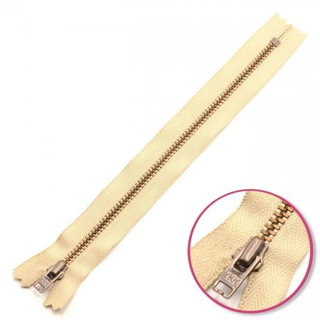 Zipper Sand 18cm Non Seperable with Teeth Metalic Antique YKK (0643475-572)
