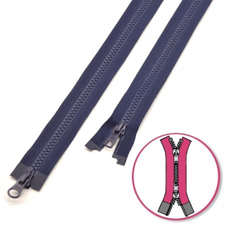Zipper Navy 45cm two-ways Seperable with Teeth Plastic YKK (4335819-058)