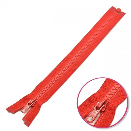 Zipper Red 80cm Seperable with Teeth Plastic YKK (4335956-519)