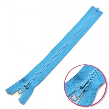 Zipper Turquoise 80cm Seperable with Teeth Plastic YKK (4335956-549)