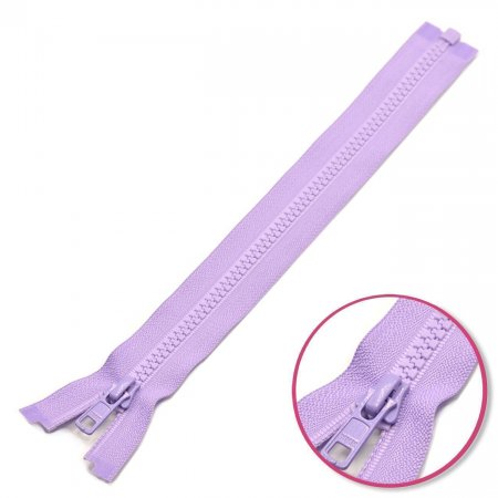 Zipper Pastel Lilac 45cm Seperable with Teeth Plastic YKK (4335956-553)