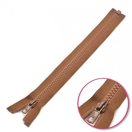 Zipper Light Brown 70cm Seperable with Teeth Plastic YKK (4335956-568)