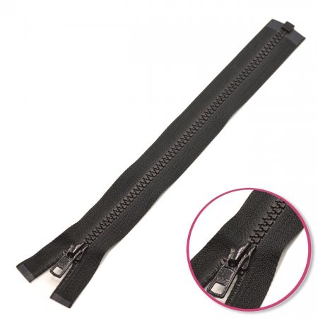 Zipper Black 60cm Seperable with Teeth Plastic YKK (4335956-580)