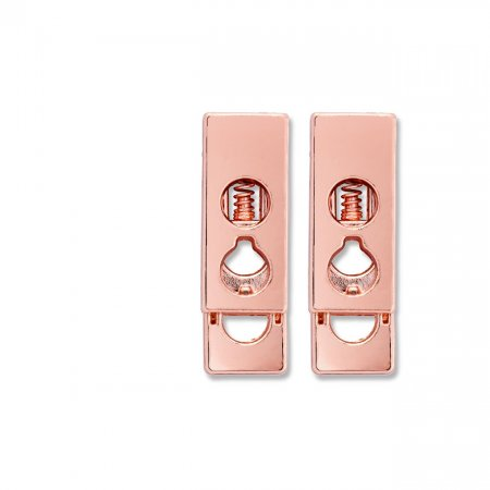 Cord Lock, 2-holed, Roségold Pack of 2 (416662)