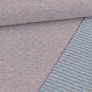 Quilted Doubleface Diamond Pattern Blue on Grey