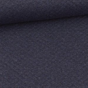 Quilted Diamond Pattern Dark Blue Melange