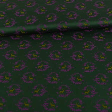 Sateen Garb Dirndl Deer Dark Green