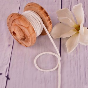 Cotton Cord Cream 5mm