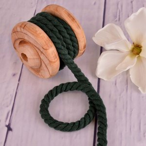 Twisted Cotton Cord XXL Uni Dark Green 12 mm