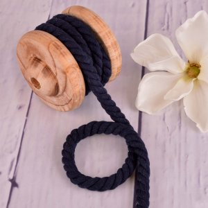 Twisted Cotton Cord XXL Uni Navy 12 mm